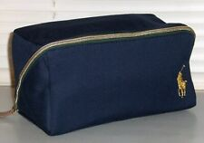 POLO RALPH LAUREN Pony Canvas Toiletry Bag, Dopp Shave Kit, Travel, Gym NAVY New