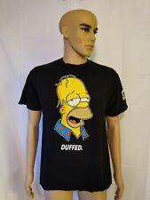 Neff The Simpsons Tee Shirt Black Homer Simpson Duffed Duff Beer Streetwear