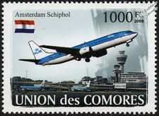 Amsterdam Schiphol Airport & KLM Boeing 737 Airliner Aircraft Stamp