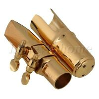 Brass B-flat Soprano Saxophone Mouthpiece with Ligature #6 Gold