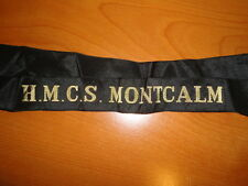 Royal Canadian Navy Cap Tally HMCS Montcalm nice