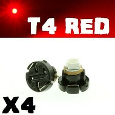 4 X Red T4 Neo Wedge SMD LED Twist Lock LCD Dash Cluster Switch Gauge VT VX