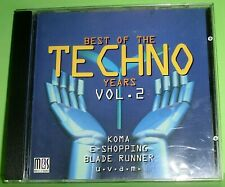 Best of the Techno Years Vol. 2 (CD) Elevator 101, MDMA, Coming Out, The Torch