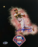 Philadelphia Phillies Jimmy Rollins Signed 8x10 Photo - Auto Beckett BAS COA 2
