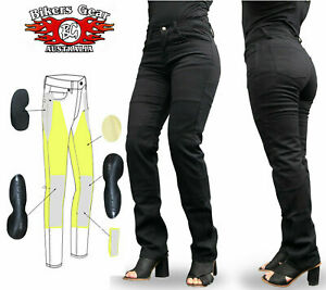 AUSTRALIAN BIKERS GEAR Ladies  Motorcycle Jeans lined with DuPont™ Kevlar®