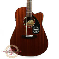 Brand New Fender CD-60SCE Dreadnought Mahogany Acoustic Electric in Natural