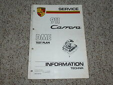 1984 Porsche 911 Carrera DME Test Plan Shop Repair Service Manual 1985 1986