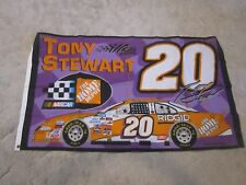 Tony Stewart #20 NASCAR 3x5 flag Home Depot Racing grommets