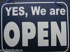 Sign YES, We Are Open - REVERSE Sorry, We are Closed Sign Shop Door Restaurant