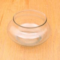 Clear Glass Short Round Tealight Candle Holder