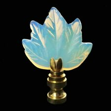 Gorgeous Opalique Carved Leaf Lighting Lamp Shade Finial (New)
