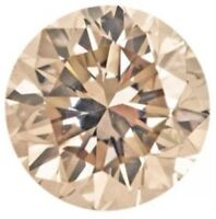 .06ctw 5 Natural Loose Brilliant Round Diamonds Melee Si Clarity Cognac 1.3mm