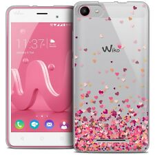 Coque Gel Pour Wiko Jerry Extra Fine Souple Sweetie Heart Flakes