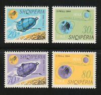 Albania 1966 MNH Mi 1067-1070 Sc 941-944 Launching of the 1st moon satellite **