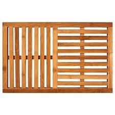 NEW Bamboo Bath Mat