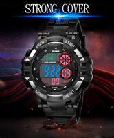 Hot  LED Multifunction Military Men's Sports Watch LED Digital Wrist Watch Cheap