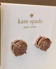 Kate Spade Gumdrop Rose Gold Stud Earrings Glitter Dust Bag Sparkle NEW