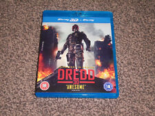 DREDD 3D - JUDGEMENT IS COMING : 3D + BLU RAY - IN VGC (FREE UK P&P)