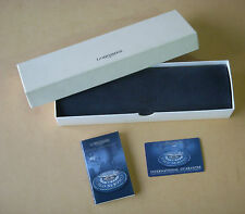 Vintage Longines Box and case, booklet and blank international guarantee card