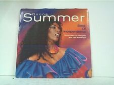 """DONNA SUMMER """"STATE OF INDEPENDENCE / LOVE IS JUST A BREATH AWAY"""" 45w/PS MINT"""