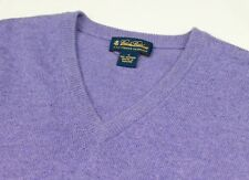 Brooks Brothers Lavender 3 Ply Italian Cashmere Made in Scotland Knit Vest M