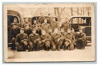 Vintage Early 1900's RPPC Postcard WW1 Military Transportation Crew UNPOSTED