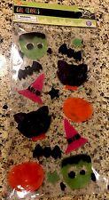 Halloween Gel Window Clings Pumpkins Witch Bats Frankenstein Clings Witch Hat