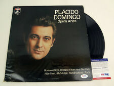 Placido Domingo Signed Autograph Opera Arias Vinyl Record Album PSA/DNA COA