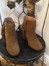 New Look brown suede fringed ankle boots 3