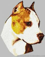 Large Embroidered Zippered Tote - American Staffordshire Terrier Dle1467