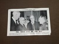VINTAGE ILLUS CURRENT NEWS PRESIDENT TRUMAN OPENS RED CROSS DRIVE PHOTO