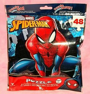 New Marvel Spider-Man 48 Piece Puzzle in Reusable Bag