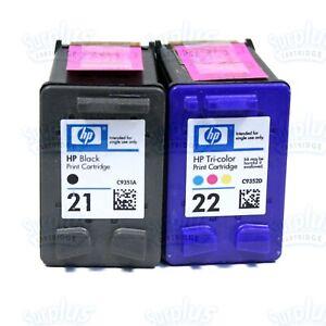2 Genuine HP 21/22 Black-Color Ink J3640 J3680 D1320 D1360 F335 F2110 F380 F350