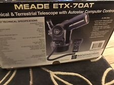 MEADE ETX-70AT Telescope w/ AutoStar Controller, Tripod And 2 Eye Pieces PARTS?