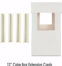 """Cake Box Corner Extension  Cards ~ 4 for £1.99 ~ 100 for £12.77 12""""/32cm high"""