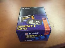 SEALED 10-PACK BASF REFERENCE II MASTER 10 HIGH BIAS BLANK AUDIO CASSETTE TAPES