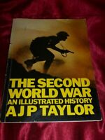 Vintage THE SECOND WORLD WAR Illustrated History by AJP TAYLOR PB BOOK 1976