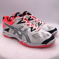 Asics B554N Gel-Tastic White Pink Black Volleyball Shoes Women's Size 11.5