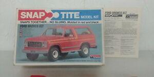 1:32 Vintage 1980 Monogram Snap Tite Ford Bronco XLT Model Unassembled Complete