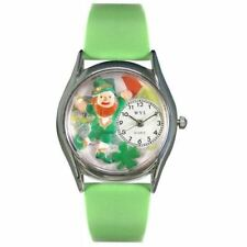 Whimsical Watches Women's S1224003 St. Patrick's Day with  Irish Flag Light Gree