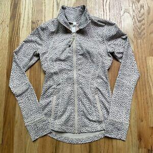 Women's Lululemon Runaway Cheetah Leopard Speckle Dot Print Define Jacket Sz 4