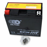 12v YT14B-BS Battery for Yamaha XVS1100 V-Star XV17 Road Star Warrior Silverado