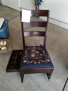 Antique sewing rocking chair.