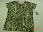 NWT Womens Mossy Oak Pink Camouflage Sport Tee Shirt Size Large Hunt