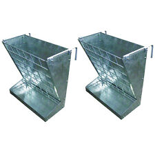 Little Giant Heavy Duty Galvanized Metal 2 In 1 Goat And Sheep Feeder 2 Pack