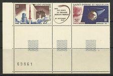FRANCE / ST PIERRE ET MIQUELON 1966 1st SATALITE BLOCK MINT