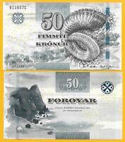 Faroe Islands 50 Kronur p-29 2011 UNC Banknote