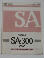 Sigma SA 300 Anleitung F D