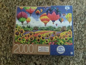 Hot Air Balloons Flying Colors 2000 Piece Puzzle Nancy Wernersbach COMPLETE