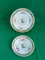 Royal Doulton Green Scroll Floral Saucer and Plate